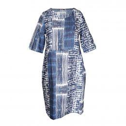 LEXI LINEN TAB SLEEVE DRESS - URBAN